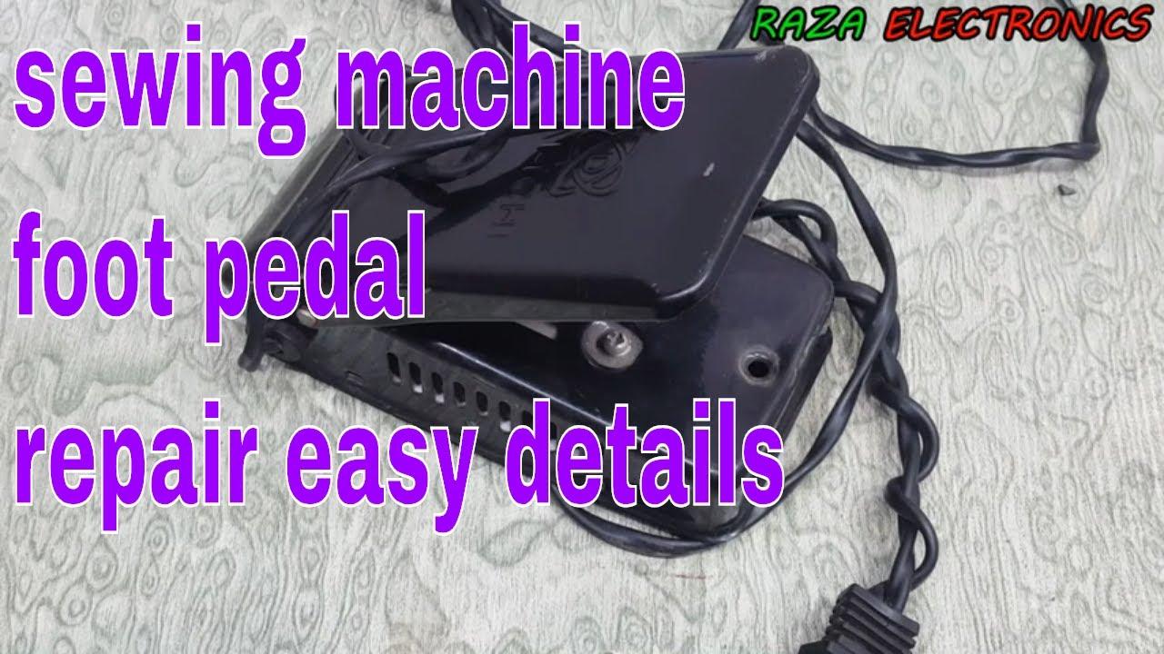 Sewing machine motor foot pedal repair at home complete guide in Urdu on