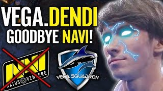 Dendi Playing First Match at his New Team VEGA - Say Goodbye to Navi