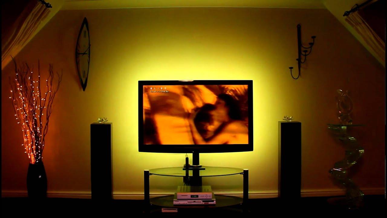 Mood Lighting led lights for tv's - mood lighting kit - youtube