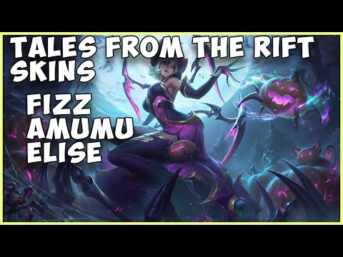 NEW TALES FROM THE RIFT SKINS LITTLE DEVIL FIZZ PUMPKIN PRINCE AMUMU BEWITCHING ELISE