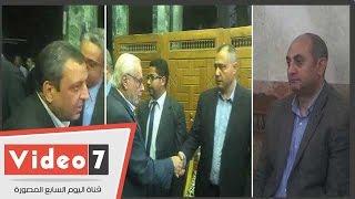 """وزير الإنتاج الحربى وخالد على قلاش والقصاص بعزاء """"عبد الرحمن خير"""""""