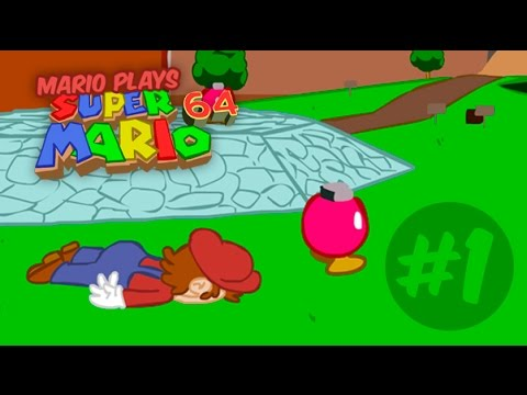 Mario plays Super Mario 64 - Bob-Omb Battlefield (Ep #1)