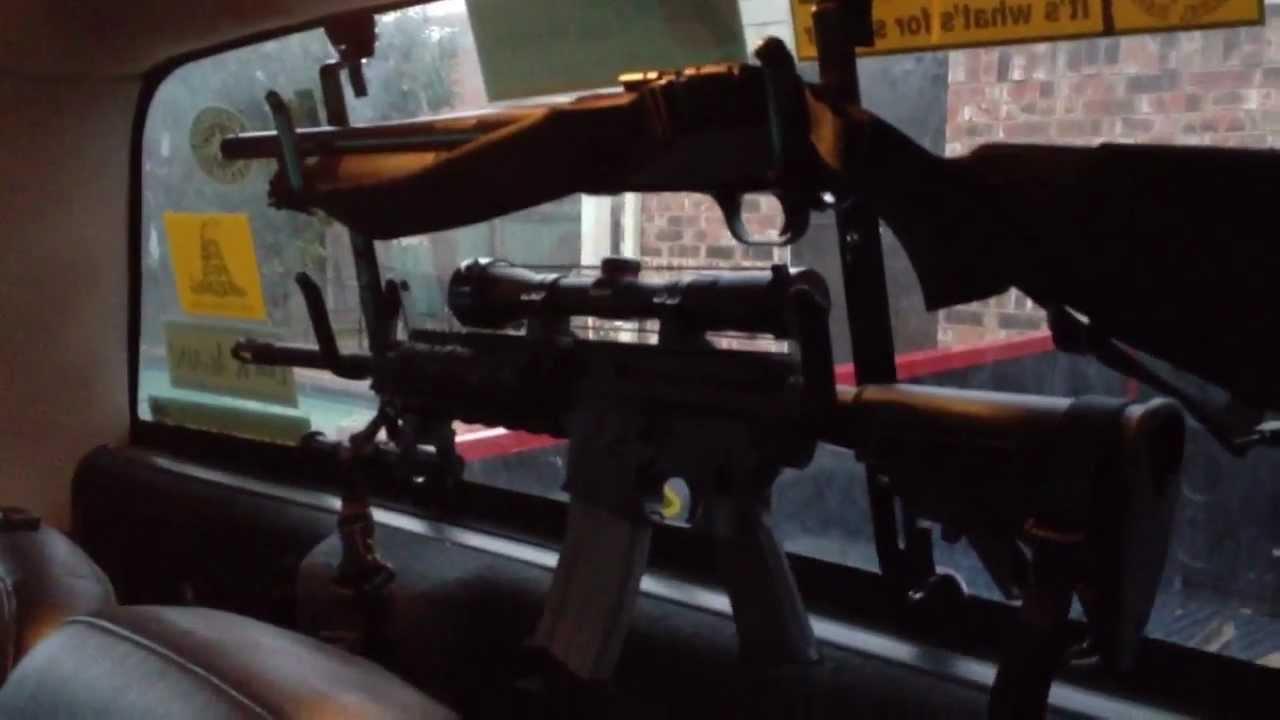 Texas style Rifle Rack