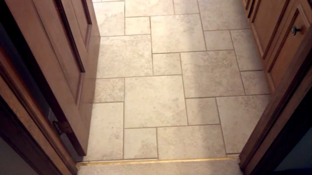 Tile In Pinwheel Pattern Shower Walk In Youtube