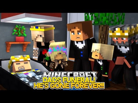 Minecraft Adventure - MOM'S NERVOUS BREAK DOWN AT DADS FUNERAL!! Little Donny FAMILY LIFE!!