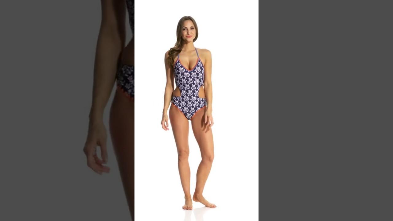 d5240461d5019 Jessica Simpson Swimwear Vine About It Cut-Out One Piece Swimsuit    SwimOutlet.com