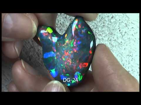 LIGHTNING RIDGE NATURAL SOLID RAINBOW NOBBY OPAL COLLECTION DG 18 to DG 35