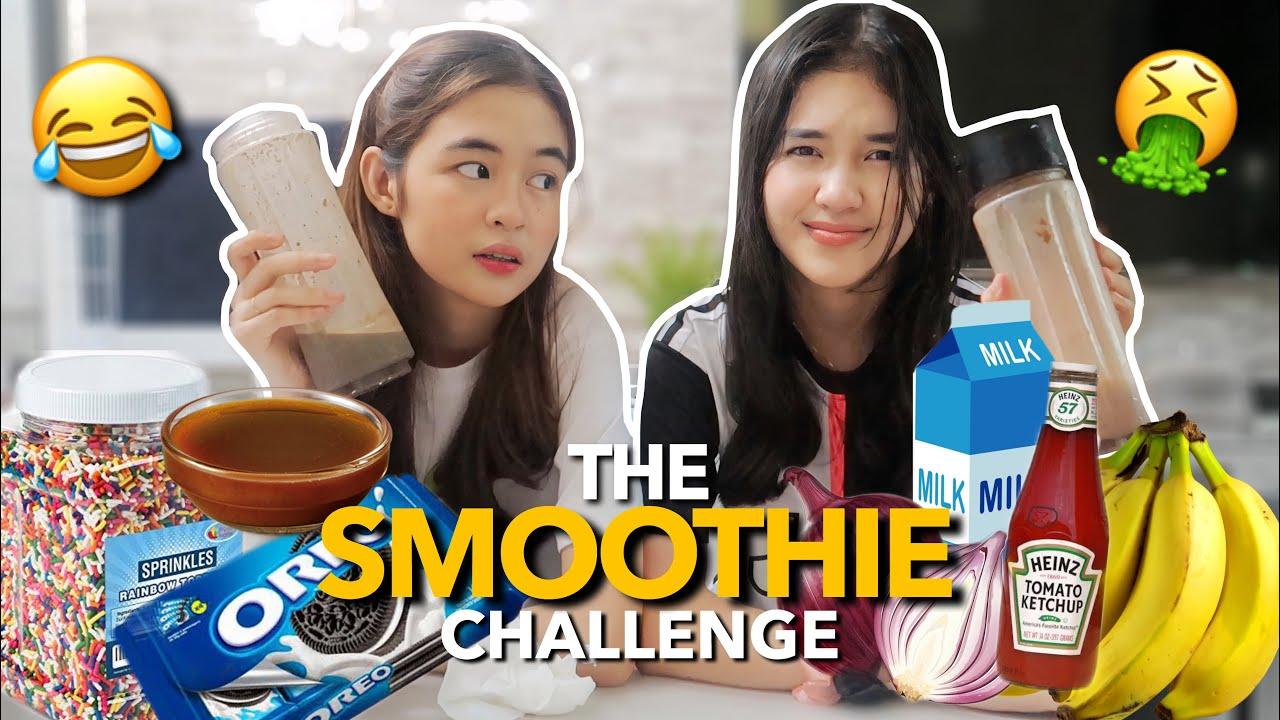 THE SMOOTHIE CHALLENGE! 😂 | Princess And Nicole