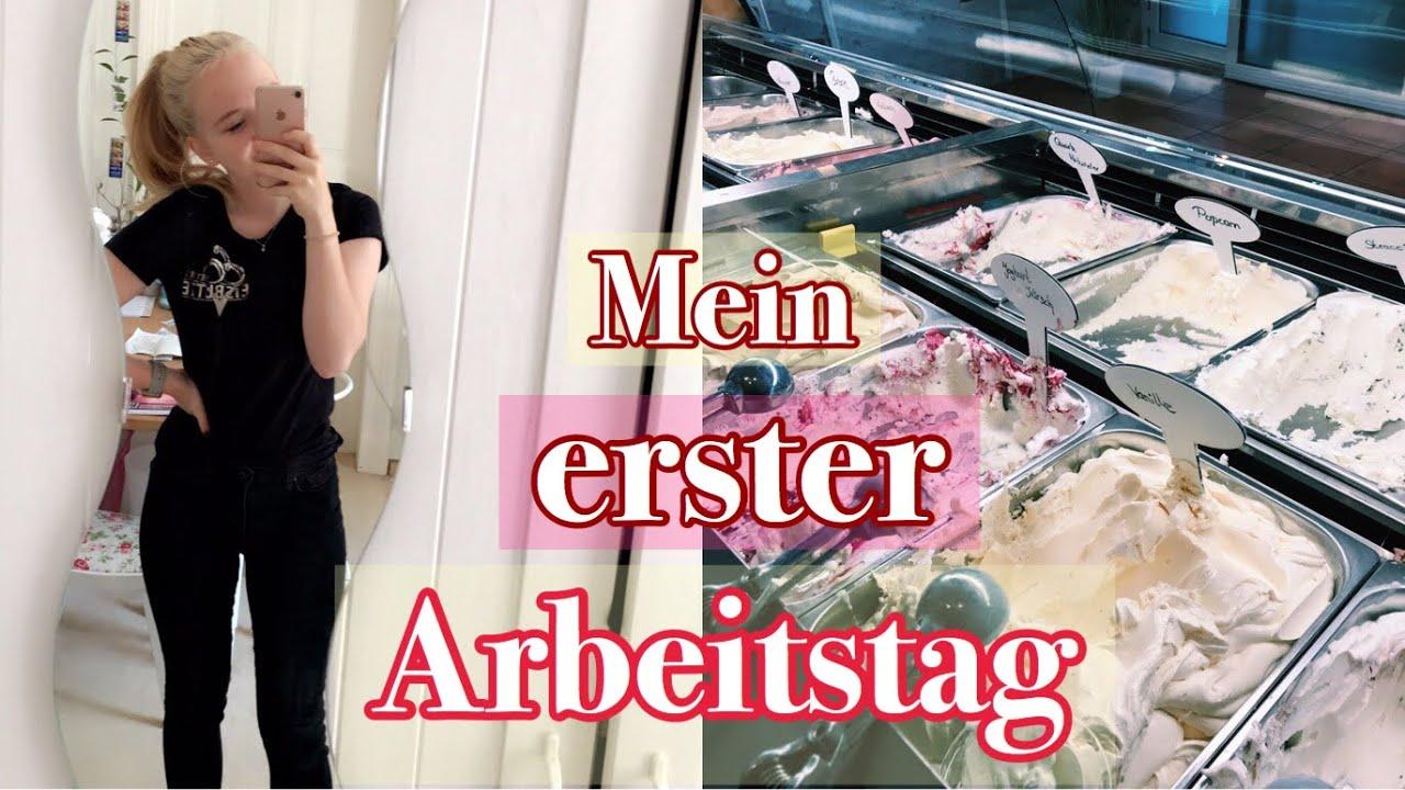 Download ERSTER ARBEITSTAG IN DER EISDIELE // Ferienjob // Vlog | Anne