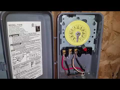 How To Wire Connect Intermatic Pool Pump Timer SIMPLE SHORT VIDEO