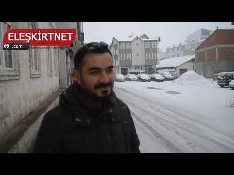 ELEŞKİRT'TE KAR YAĞIŞI