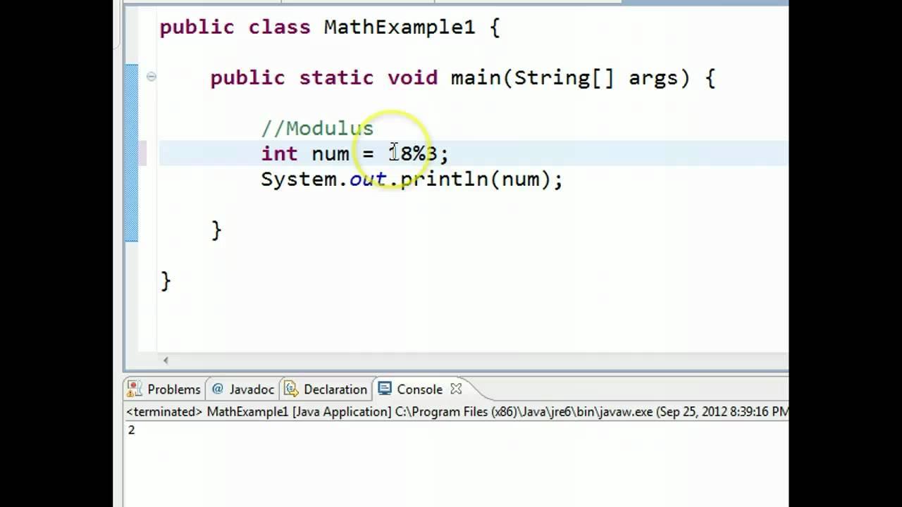 Java modulo operator