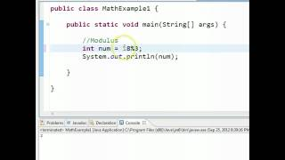 Java - Modulus Video