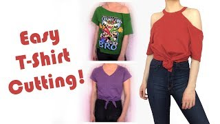 DIY T-Shirt Cutting: Easy Alterations | No Sewing