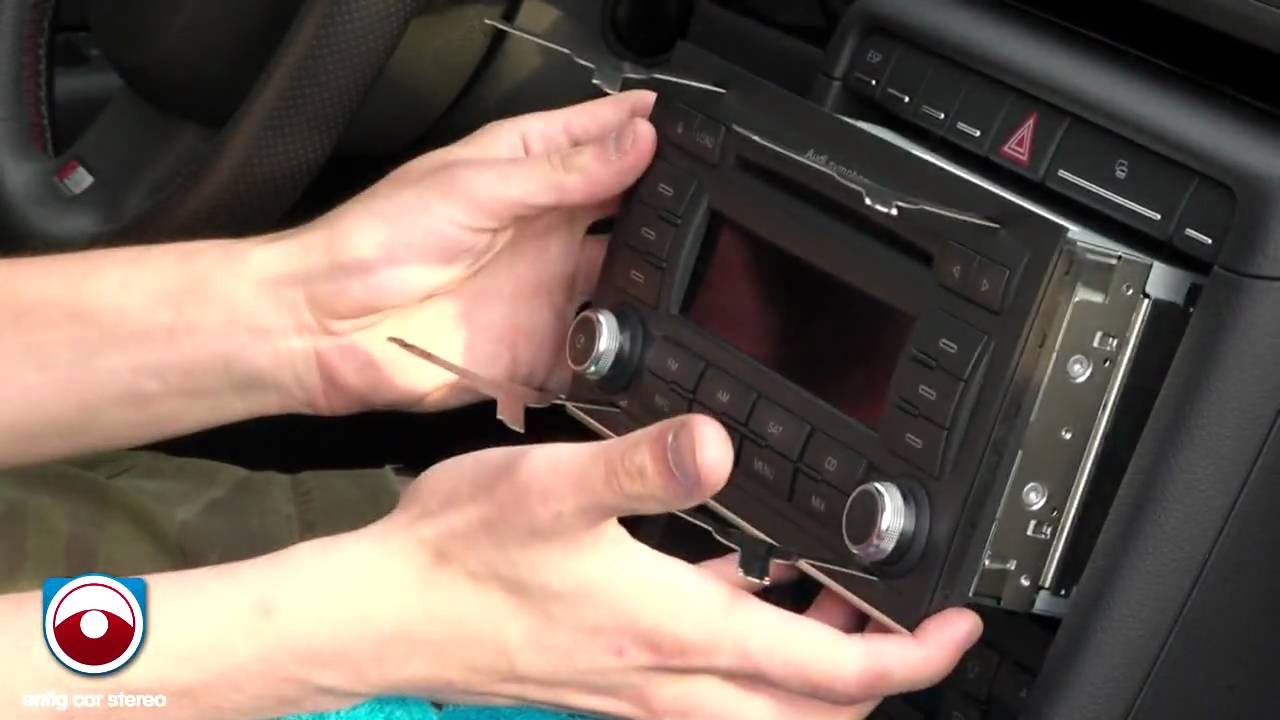 Audi A4 2007 Amp 2008 Radio Removal Youtube