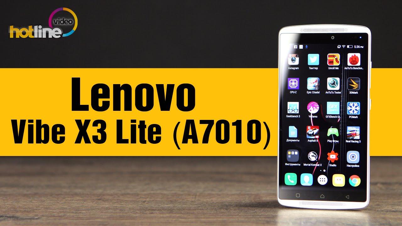 Lenovo Vibe X3 Lite / A7010(a48) - video test (01.06.2016) - YouTube
