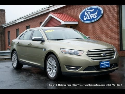 2013 ford taurus for sale in maine at ripley and fletcher ford 80 main st south paris me 04281. Black Bedroom Furniture Sets. Home Design Ideas