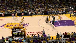 NBA 2K13 on Wii U: Nets at Lakers