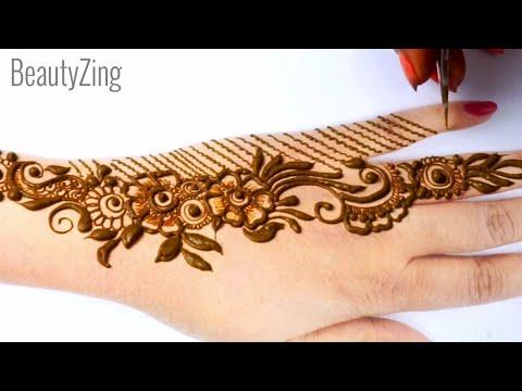 Rakhi Special 2020 Arabic Henna Flower Mehndi Design for Backhand    Simple Mehndi Design 2020