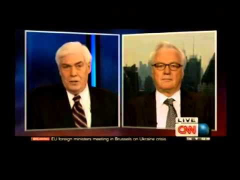 Vitaly Churkin gives an interview to the CNN on Ukraine