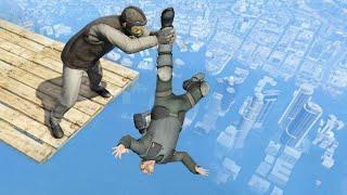 GTA 5 Water Ragdolls/Falls episode 4 (Flooded Los Santos)