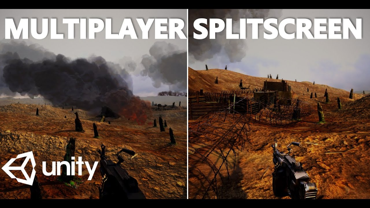 HOW TO CREATE SPLITSCREEN FOR FPS MULTIPLAYER GAMES - MINI UNITY TUTORIAL