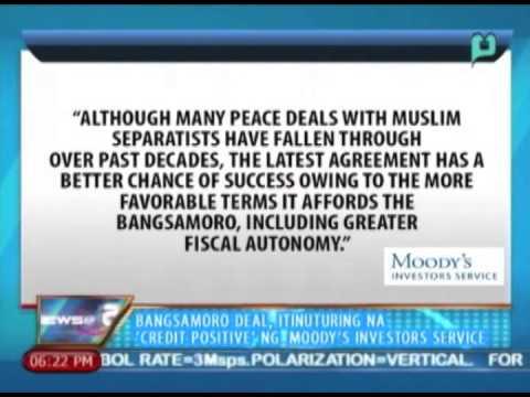 News@6: Bangsamoro deal, itinuturing na 'credit positive' ng Moody's Investors Service