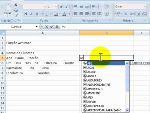 Como criar um banco de dados no excel 2007