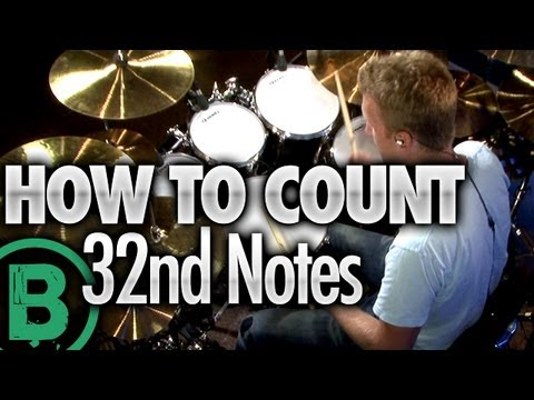How To Count 32nd Notes - Beginner Drum Lessons