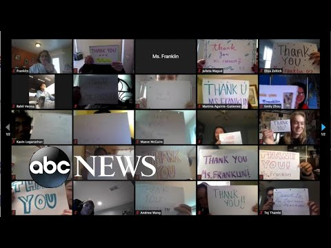 Students surprise teacher with Zoom 'thank you'   WNT