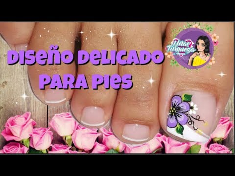 Decoraci n de u as para pies flor dise o u as pies youtube - Decoracion de unas colombianas ...