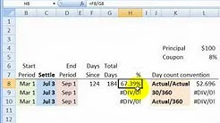 FRM: Day count conventions for bonds