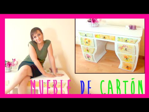 How to make a furniture cardboard recycled crafts and - Hacer tocador para nina ...