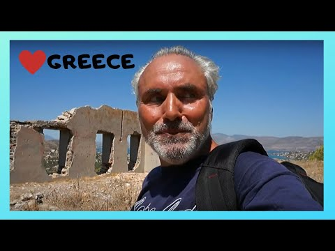 GREECE: WW2 GERMAN NAZI anti-aircraft GUN complex in SALAMIN