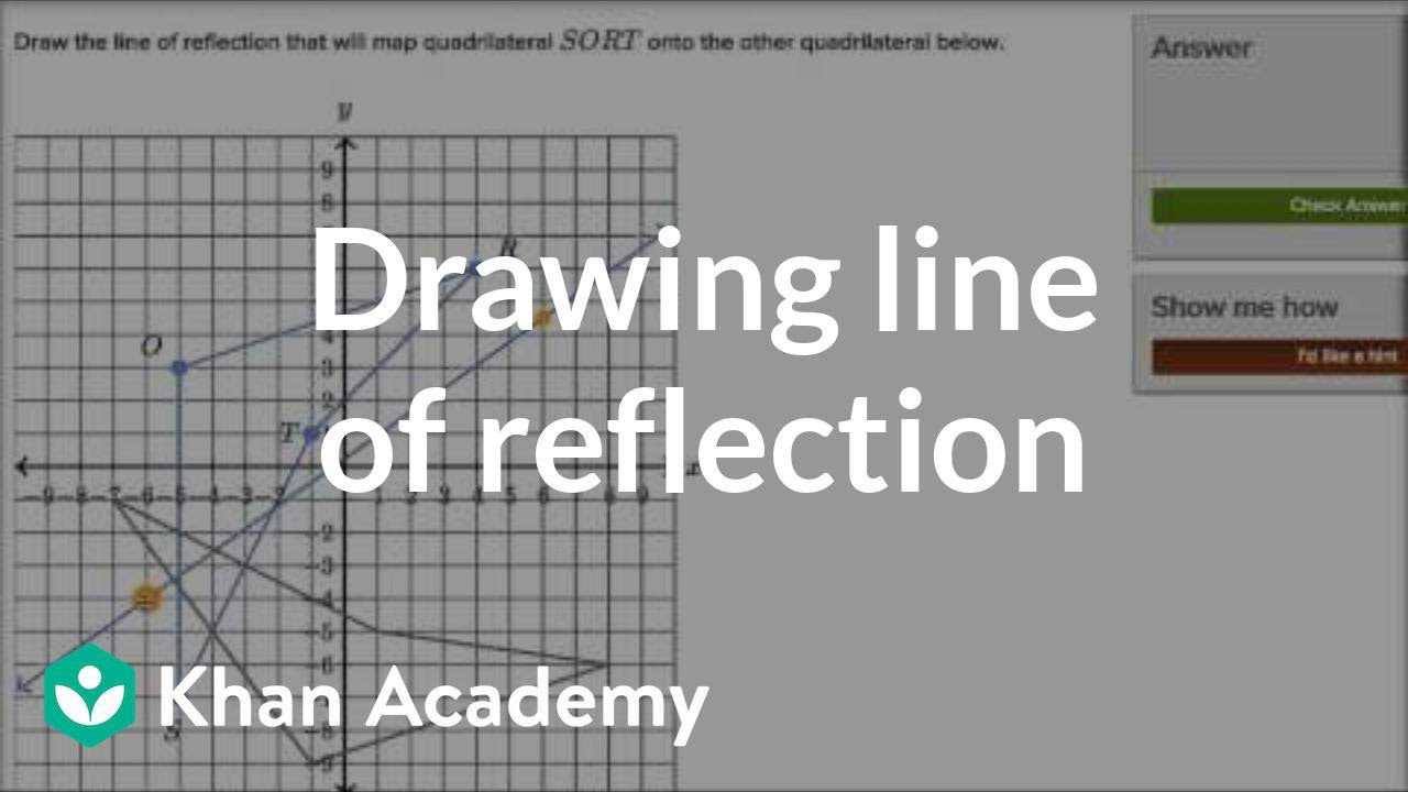 Drawing Lines Of Reflection : Drawing line of reflection transformations geometry