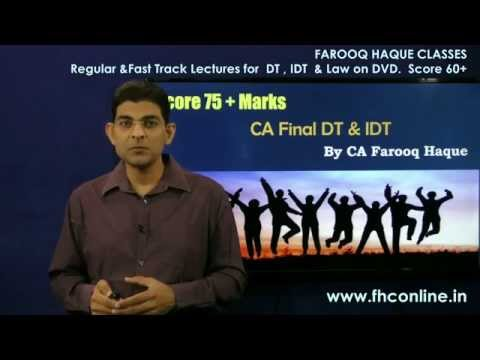 How to crack 75 marks in CA FINAL DT and IDT