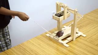 Trebuchet Medieval Siege Machine Model (silent Video)