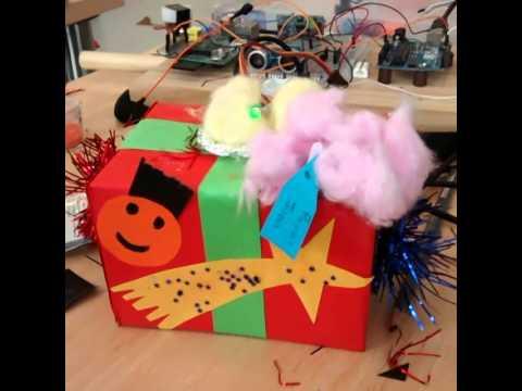 Caja de regalos con leds y servo