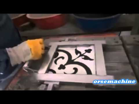 Okp 80 presse pour carrelage en porcelaine avec dessin for Carrelage italien