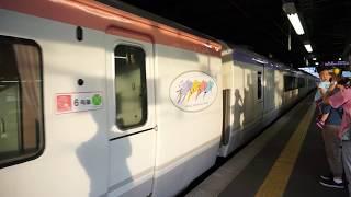 快速北アルプスいろどり 発車シーン @松本駅 2017.7.15