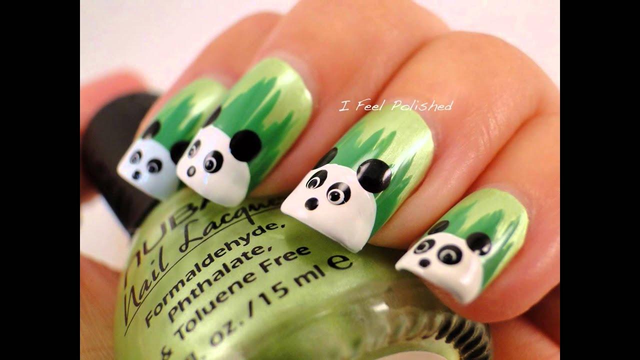 Lujoso Diseño De Uñas Panda Elaboración - Ideas Para Pintar Uñas ...