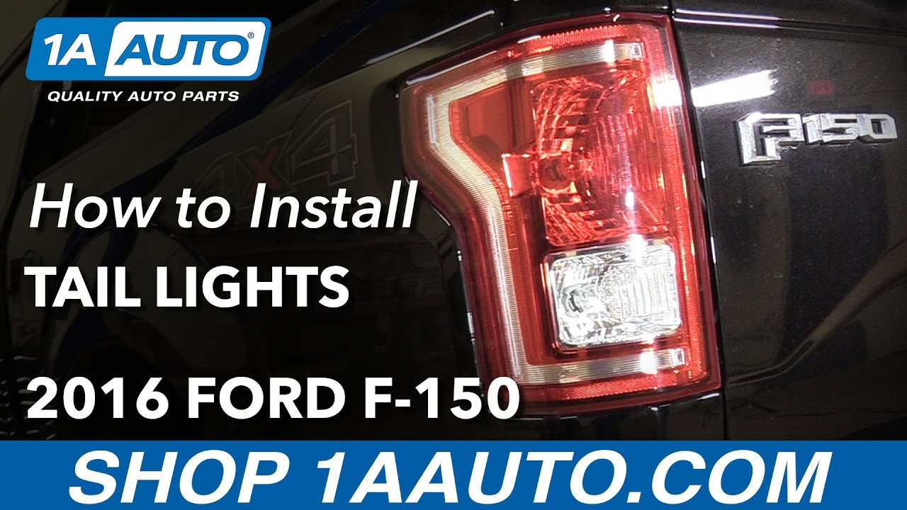 How To Install Replace Tail Lights And Bulbs 2015 16 Ford F 150 2006 F150 Brake Light Wiring Schematic