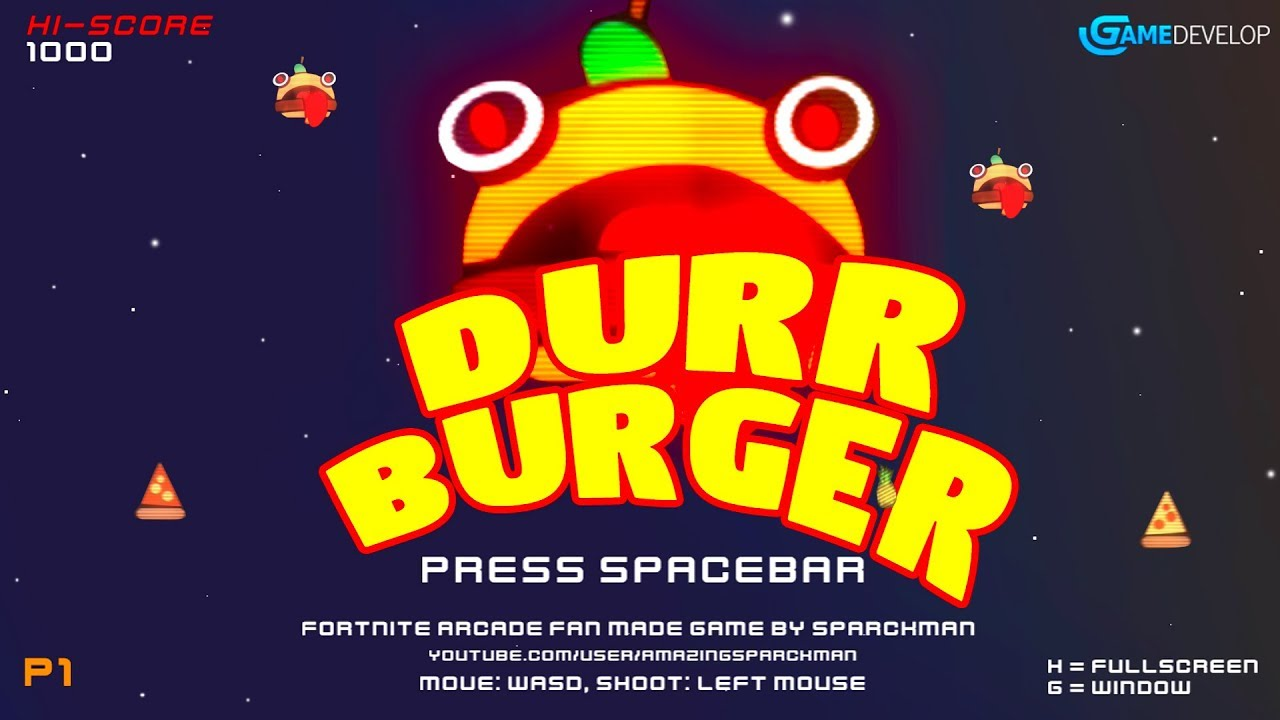 Durr Burger Fortnite Arcade Game Free Download