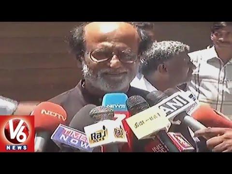 Malaysia PM Najib Razak Meets Superstar Rajiikanth || Chennai || V6 News