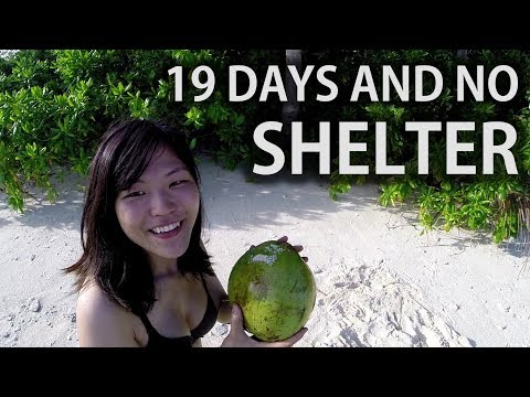 Desert Island Survival Shelter  THE FIRST FEMALE CASTAWAY 2 of 6