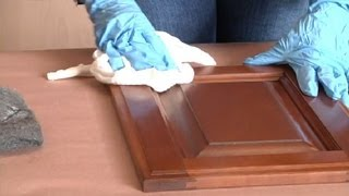 How to Make Stained Kitchen Cabinets Look Shiny Again : Restoring & Painting Kitchen Cabinets