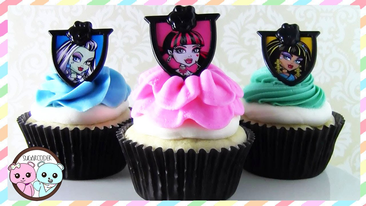Monster High Cupcakes Monster High Cake Halloween Recipe