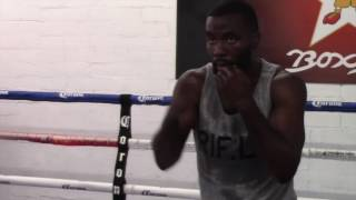TERRELL GAUSHA - OFFICIAL MEDIA WORKOUT SHADOWBOXING / GAUSHA v MARTINEZ