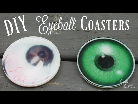 Halloween Resin Eyeball Coasters DIY | Another Coaster Friday | Craft Klatch