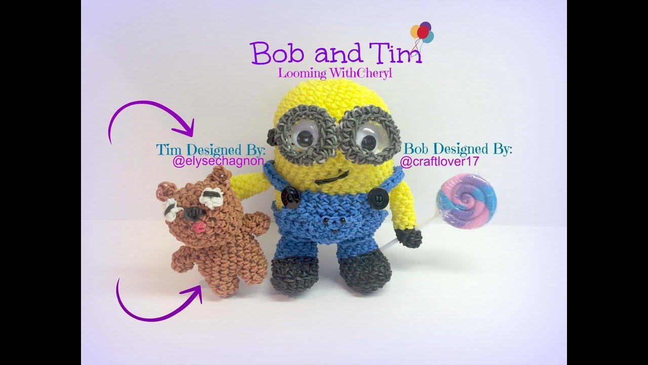 Amigurumi Minion Bob : Rainbow Loom TIM, Bobs Teddy Bear - Minion - Loomigurumi ...